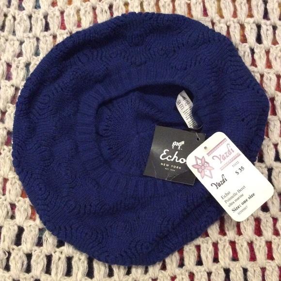 3f1ec09e0e9c3 💔SOLD💔🌹NWT Dark blue soft pointelle beret. NWT. Echo